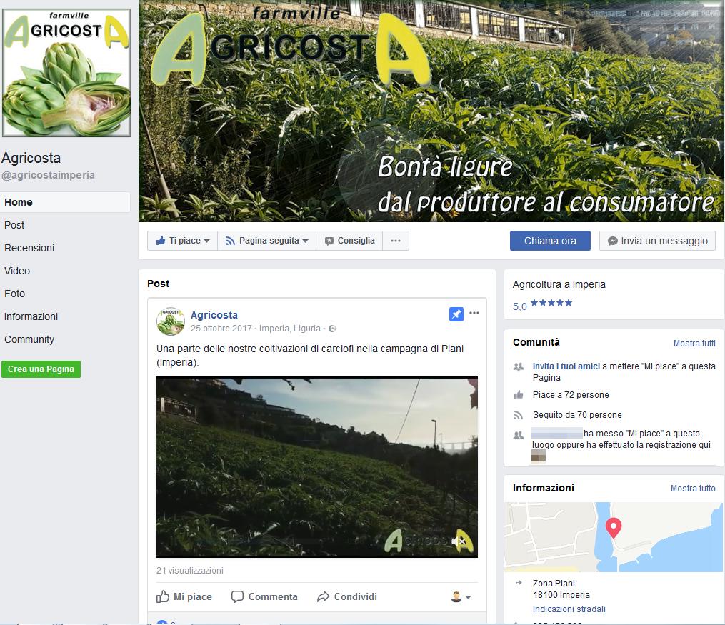 Agricosta - Pagina Facebook