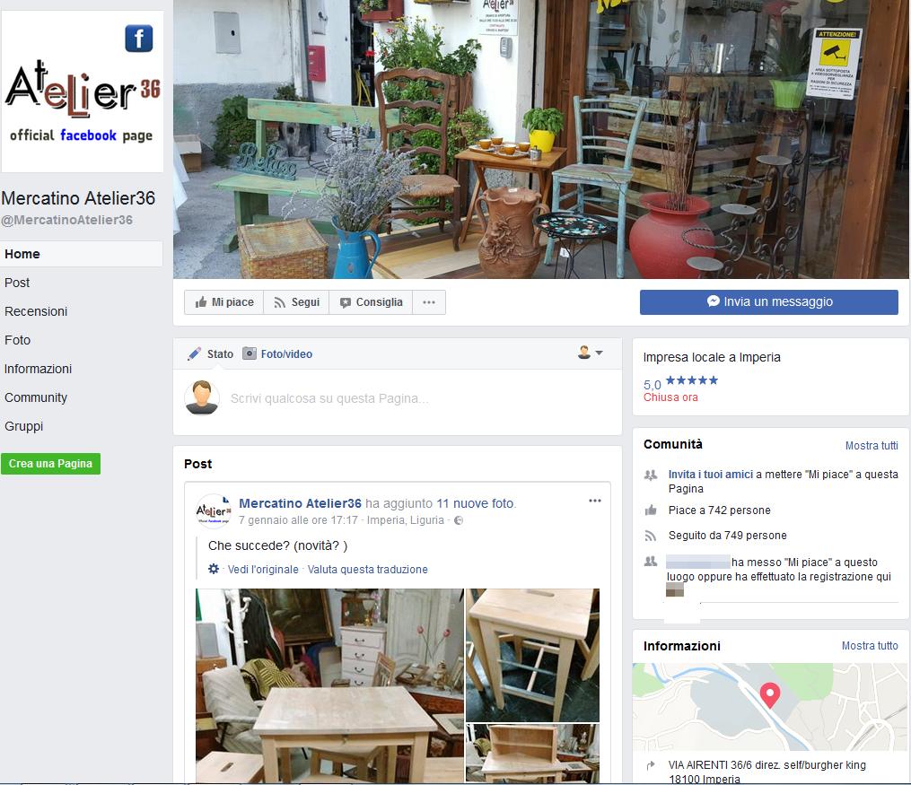 Atelier 36 - Pagina Facebook