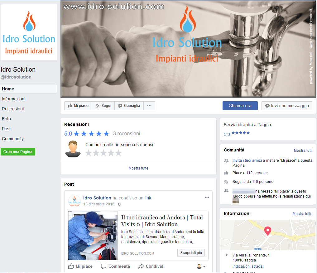 Idro Solution - Pagina Facebook