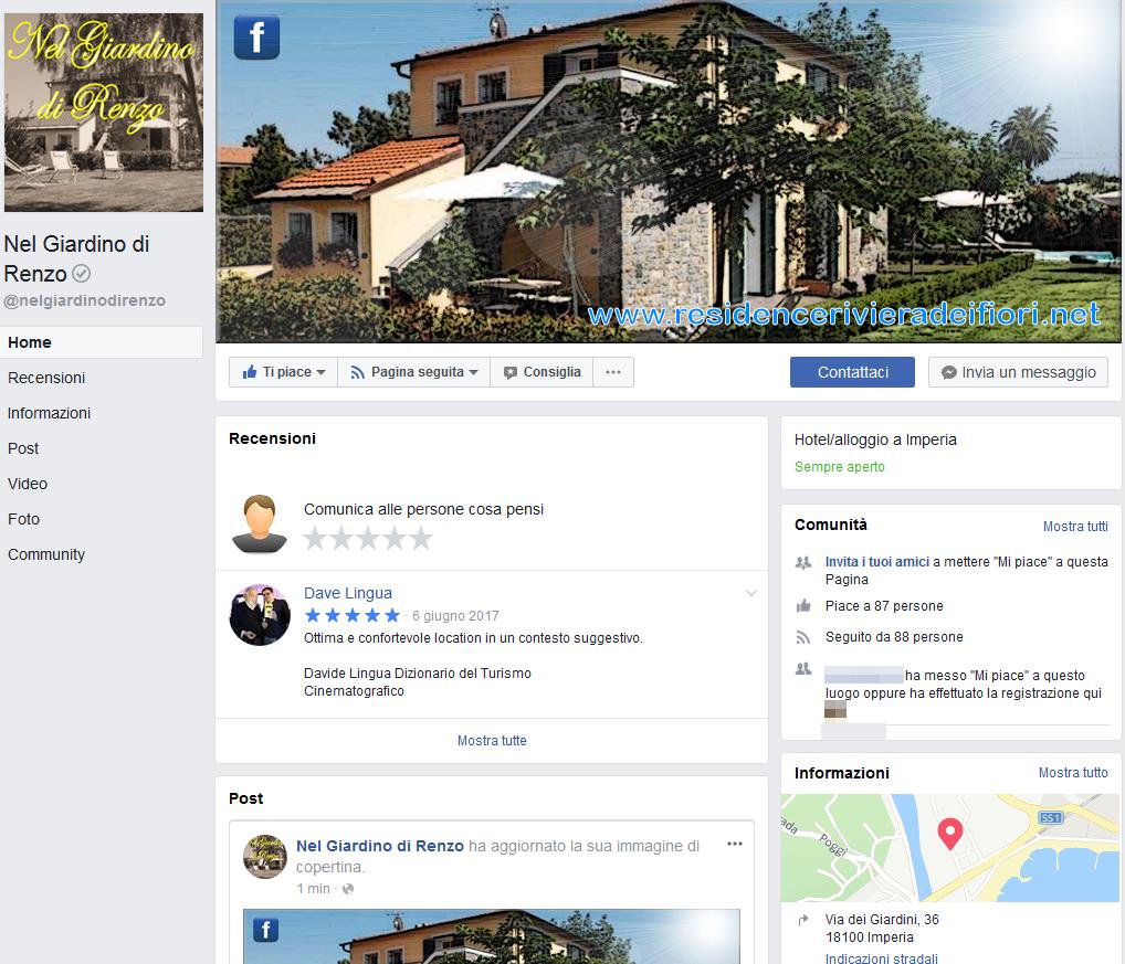 Nel Giardino di Renzo - Pagina Facebook