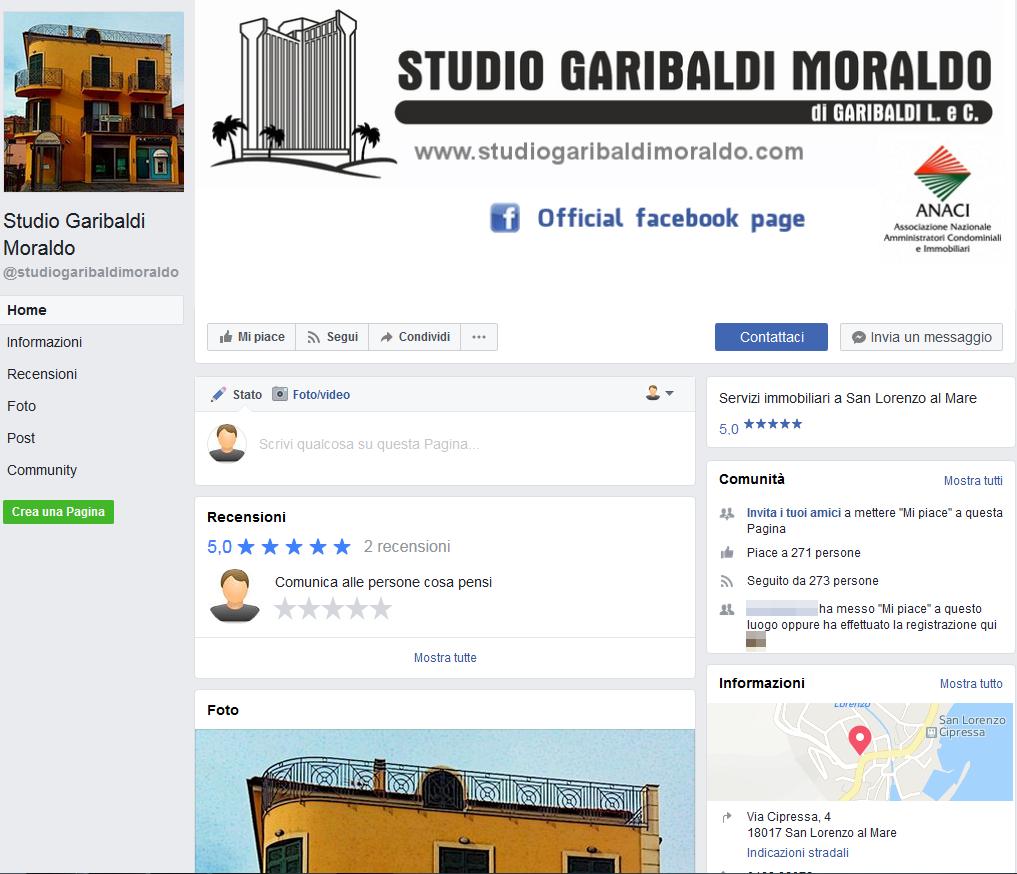Studio Garibaldi Moraldo - Pagina Facebook