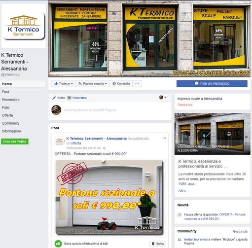 K Termico Serramenti - Pagina Facebook